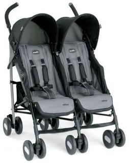 200$+Compact ECHO TWIN DOUBLE Padded Seats Comfort Stroller