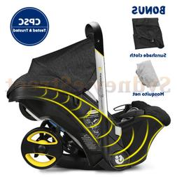 4 In 1 Easy Adjustable Infant Baby Newborn Car Seat Stroller