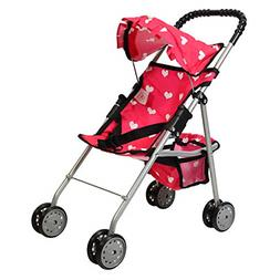 The New York Doll Collection My First Doll Stroller with Bas