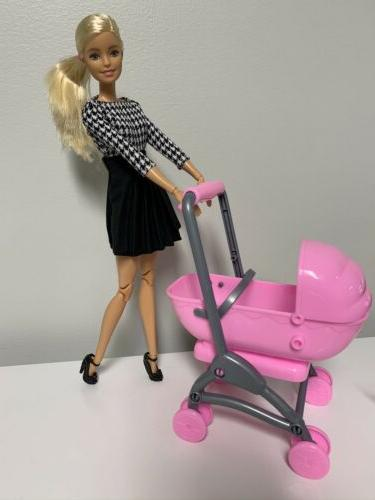 Barbie Doll Family Stroller Convertible Toddler Kelly 1/6