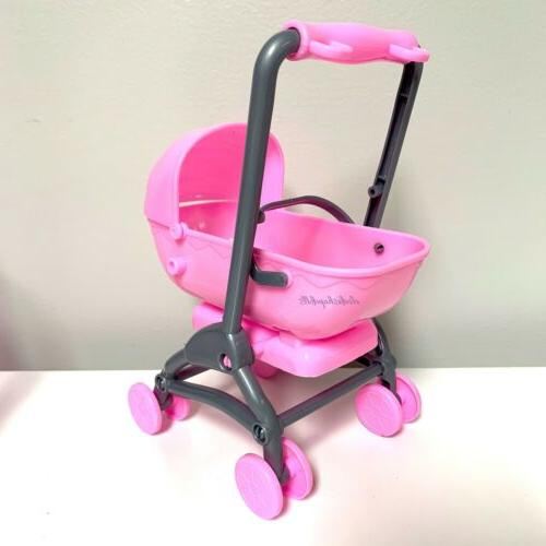 barbie doll family baby stroller convertible to