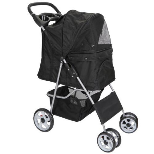 Dog Stroller Pet Travel Carriage for Dogs & Cats with Detach