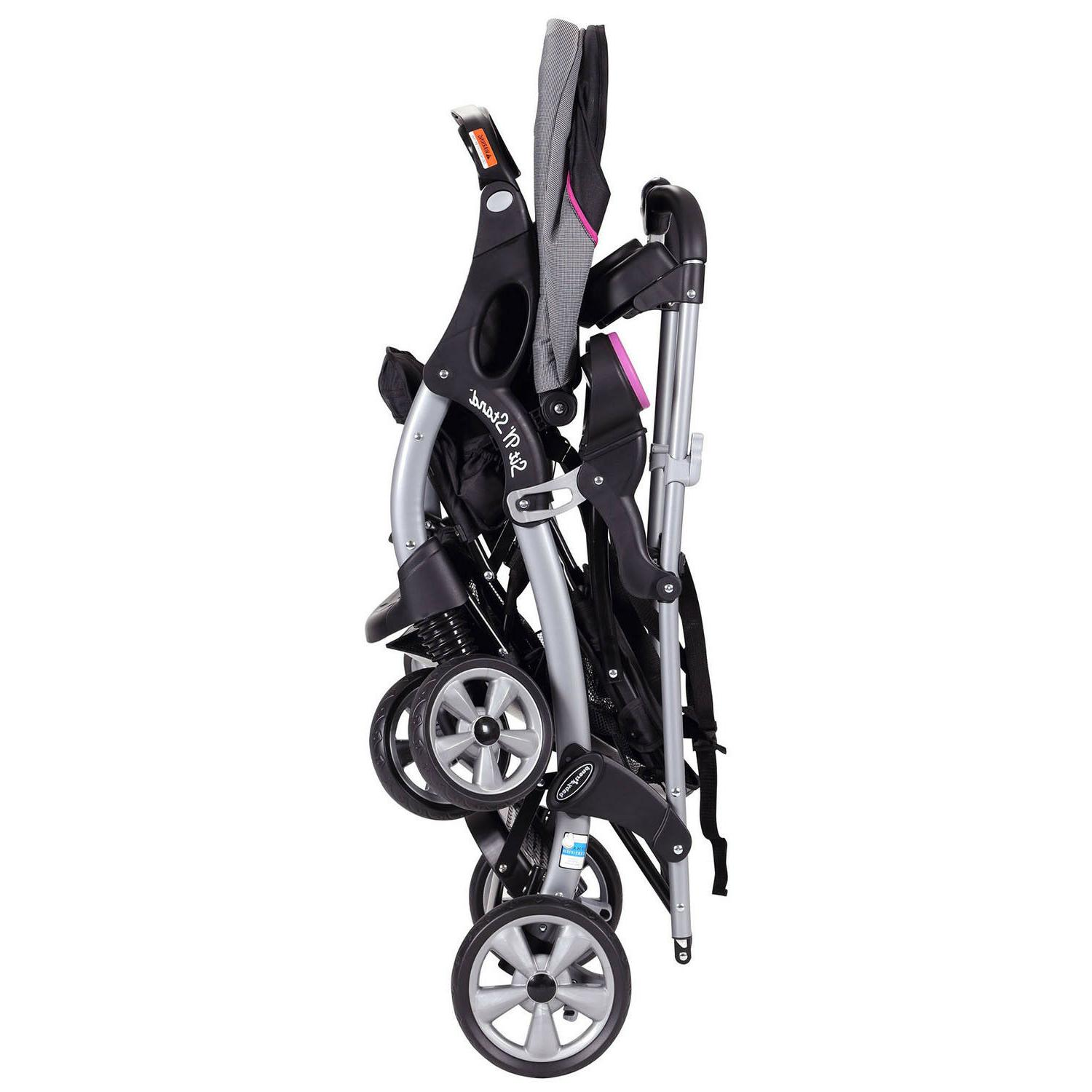 Stand Stroller Toddler Double System Storage