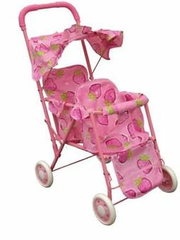 pink double stroller for baby doll great gift for any occasi