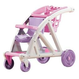 American Plastic Toys Shop With Me Doll Stroller with Shoppi