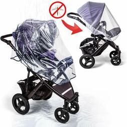 Universal Stroller Rain Cover With Mosquito Net - Protects B